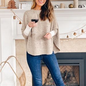 April Marin one size sweater poncho